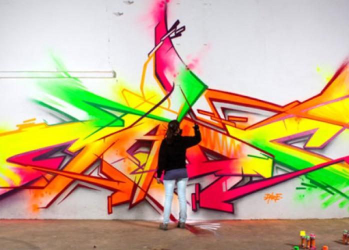 grafiti ao vivo em eventos logo marca empresas