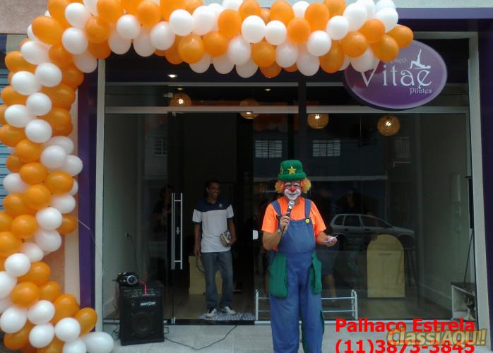 locutor frente de loja ,  palhaço para inauguração e personagem vivo