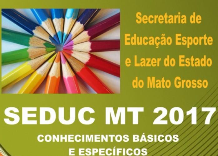 apostila seduc mt 2017 técnico administrativo educacional + brindes