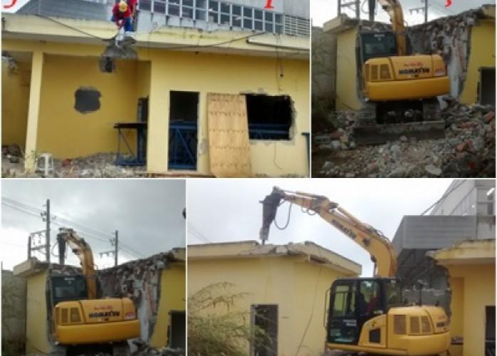 demolição de casa térrea