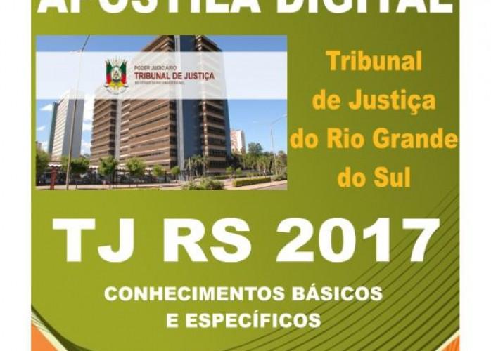 apostila tj rs 2017 técnico judiciário + brindes