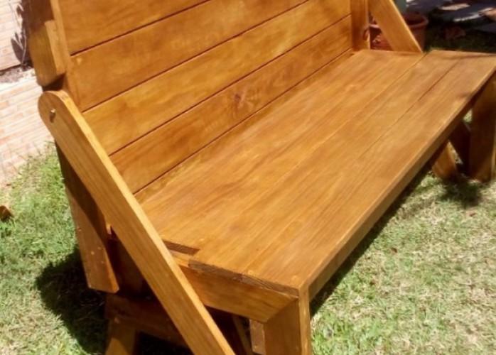 lindo banco que vira mesa/móveis de madeira sc