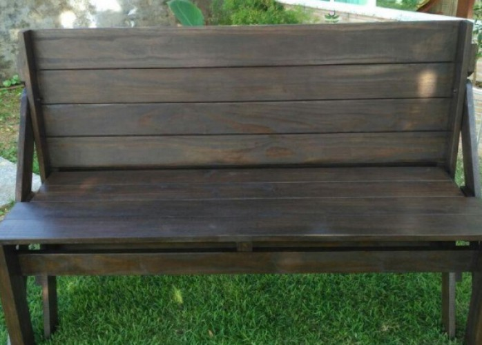 banco que vira mesa/móveis de madeira sc/