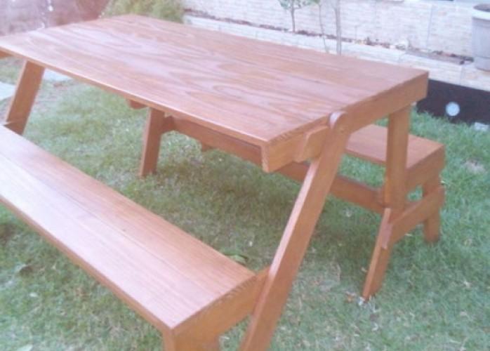 super banco que vira mesa/móveis de madeira sc