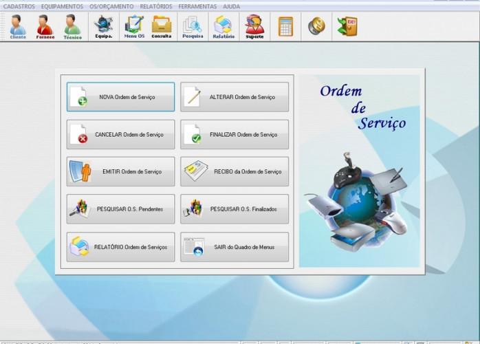 Programa Assistência Técnica Ordem de Serviço e Orçamento v1.0 FPQSYSTEM