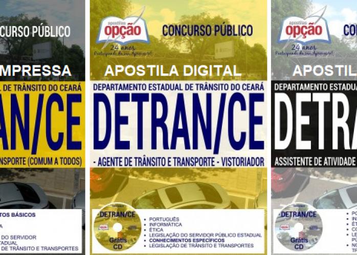 Apostila Detran Ceara (Impressa) Agente de Trânsito e Transporte - Grátis CD