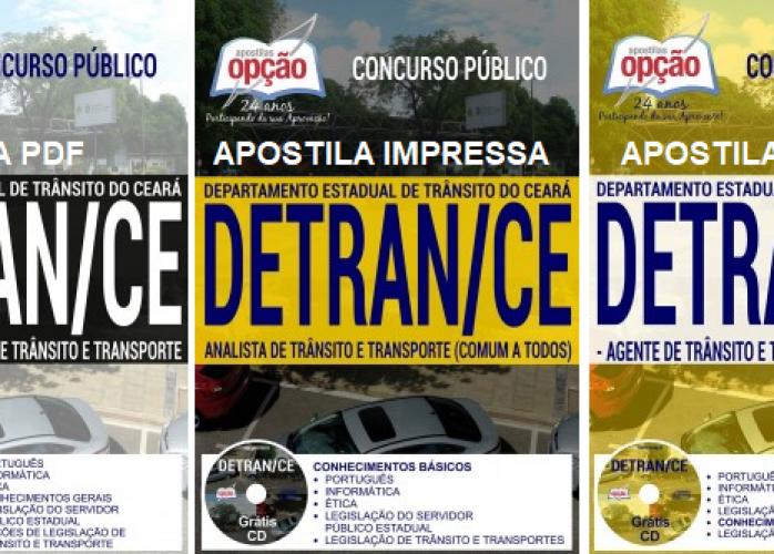 Apostila impressa Detran Ceara 2017 grátis cd rom
