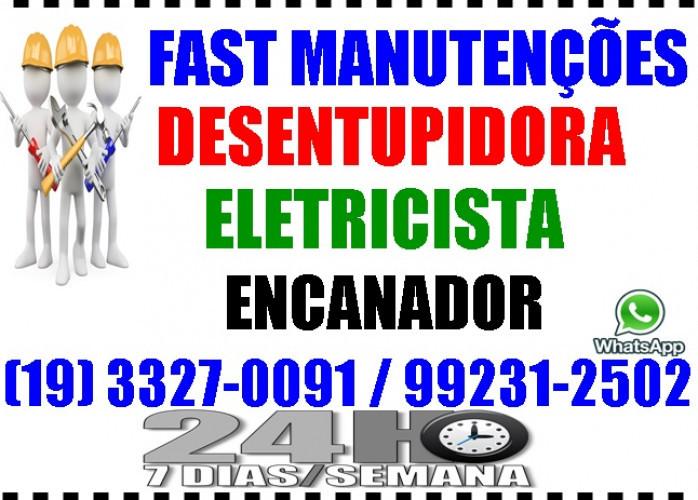 Eletricista, Encanador, Desentupidora no Taquaral em Campinas