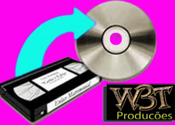 Conversão de fitas vhs em dvd e fotos para dvd