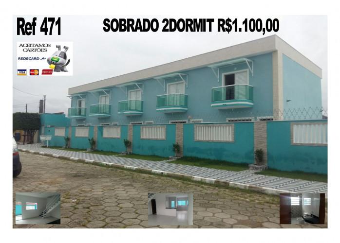 Locação Definitiva 1 e 2dormit em Mongaguá a Partir de 450,00 na Mendes Casas de Praia