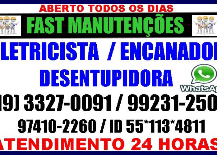 Eletricista, Encanador, Desentupidora no Vila Itapura em Campinas