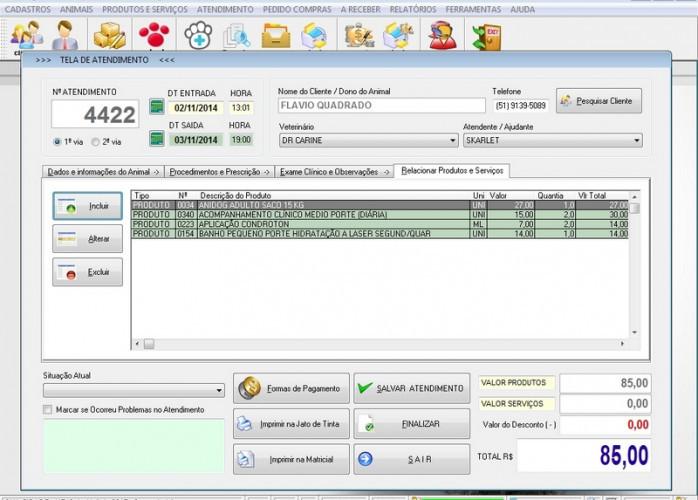 Programa para PetShop com e Atendimento v1.0 FPQSYSTEM
