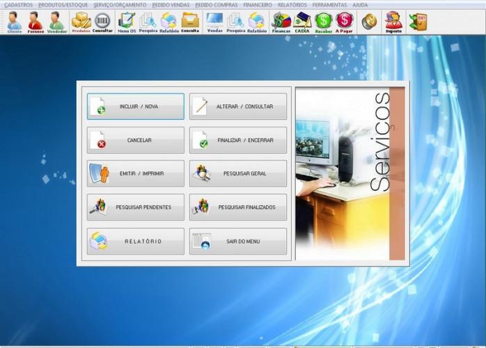 Programa OS Vidraçaria e Esquadrias com Vendas e Financeiro v4.7 FPQSYSTEM