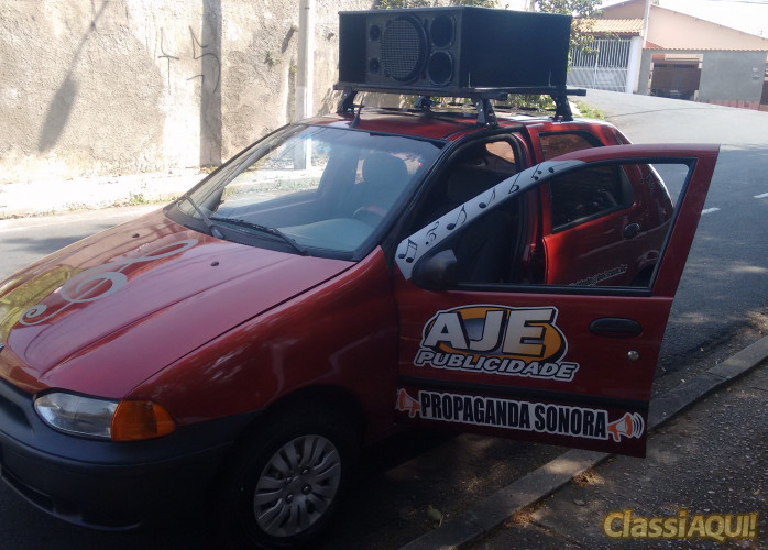 Carro de Propaganda Sonora AJE Publicidade