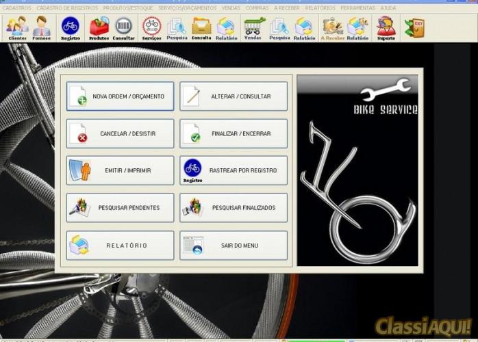 Programa para Loja de Bicicletaria com Serviços e Vendas v1.0 FPQSYSTEM