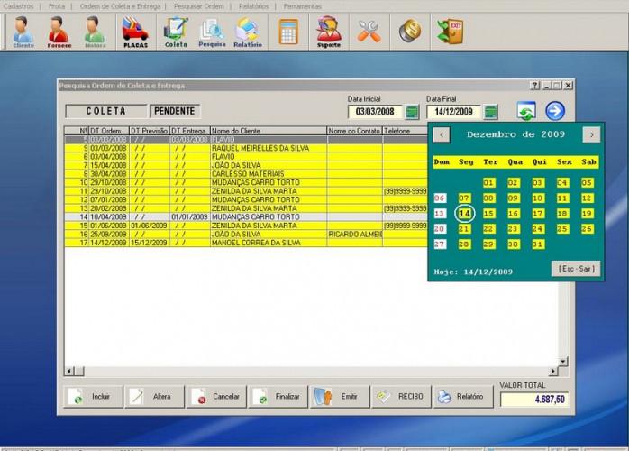 Programa Coleta e Entrega v1.0 FPQSYSTEM