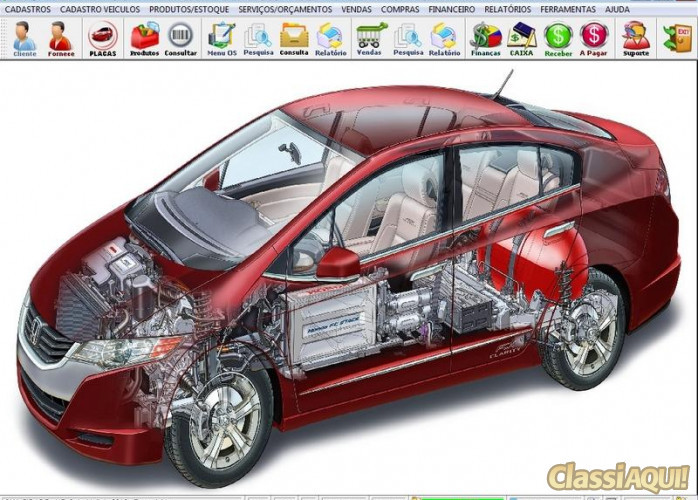 Programa para Oficina de Auto Elétrica com Ordem de Serviço, Vendas com Financeiro v2.0 FPQSYSTEM