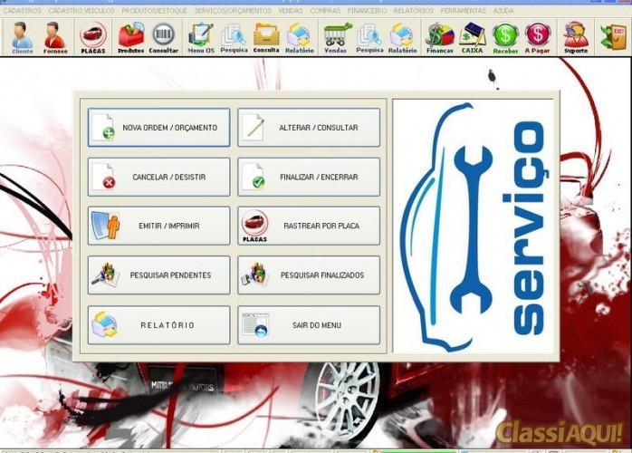 Programa para Lanternagem, Funilaria, Pintura e Serviços com Financeiro v2.0 FPQSYSTEM