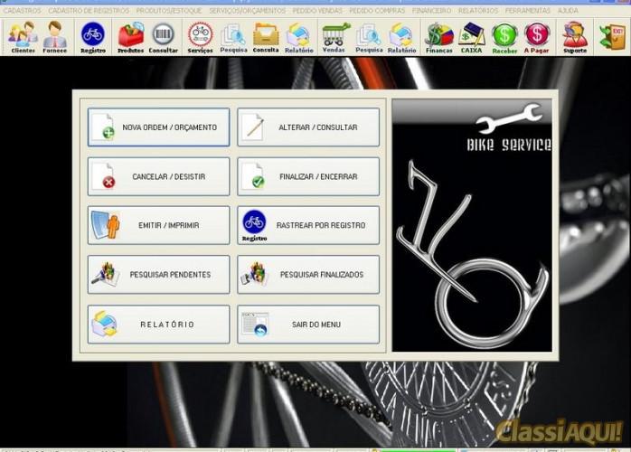 Programa para Loja de Bicicletaria com Serviços, Vendas, Estoque e Financeiro v2.0 fpqsystem