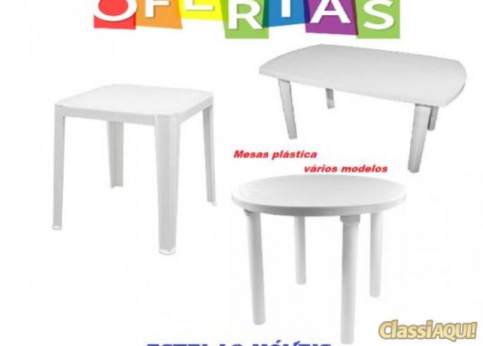 Cadeiras e mesas plástica de vários modelos