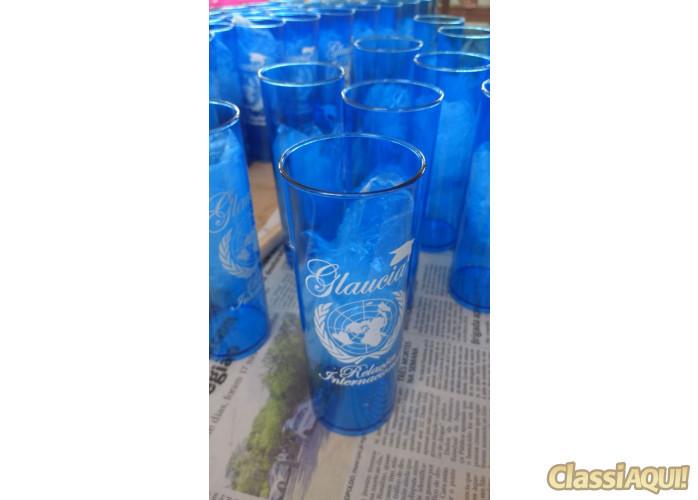 Copos LongDrinks azuis translúcidos de acrílico em alta qualidade personalizado