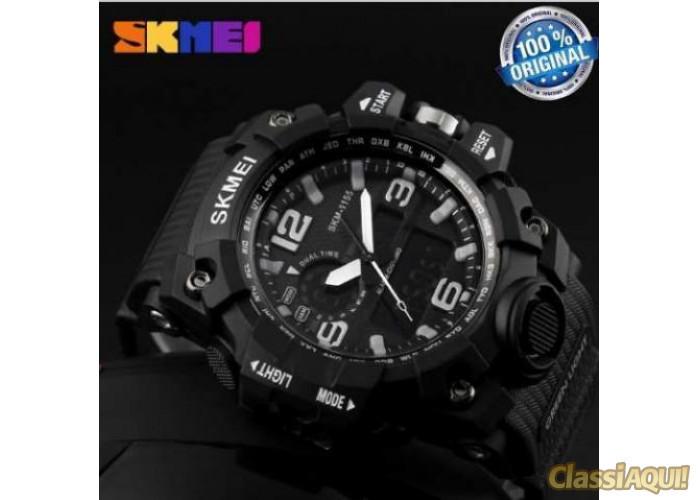 Relógio SKMEI Original 1155 Preto a Prova D'água Novo