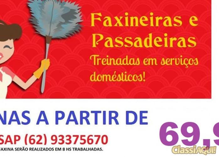 Diaristas Goiás.Faxinas completas a partir de 69,90