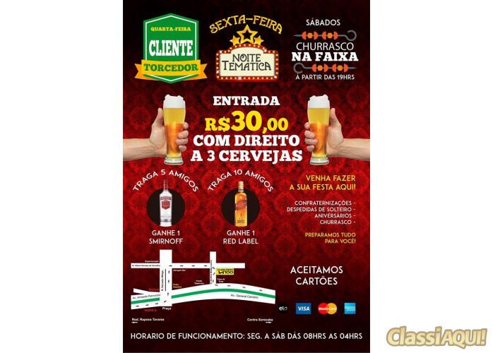Chácara 100 - Aberto de Domingo ate as 3h Madrugada