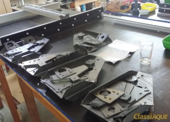 Router CNC Hobby em aço e aluminio 900x600x120mm área útil