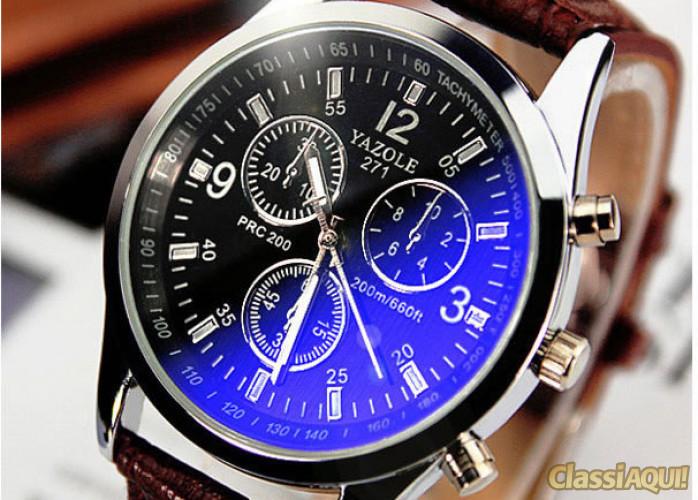 Relógio Masculino Social YAZOLE Preto ou Branco Novo
