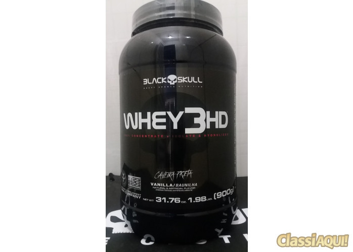 whey 3HD 907g R$ 100,00 black skull