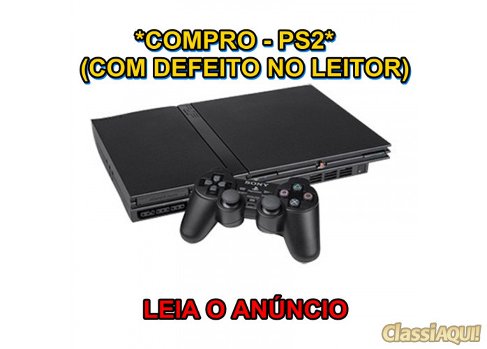 *Compro*  Playstation 2 Slim *Com Defeito