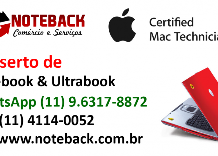 Assistência Técnica de Notebook Ultrabook todas as marcas