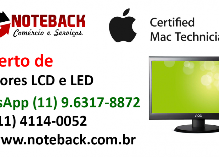 Assistência Técnica Monitor Lcd Led e Tablets