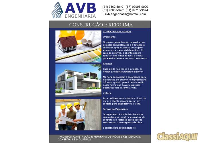 Construção e Reforma (Residencial / Comercial)