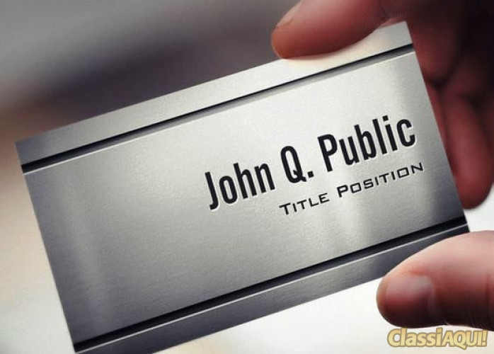 Cartão Metal Premium 0,09 Centavos Unidade Produto Sofisticado Frete Grátis