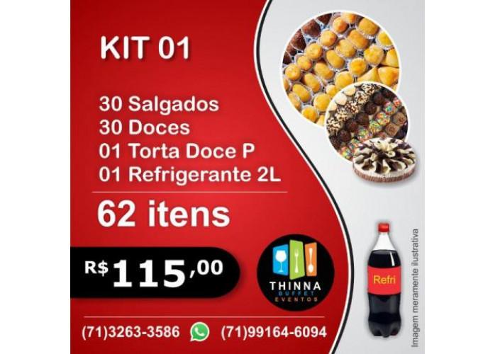 Thinna Delivery - Kit Festa Completo Doces e Salgados, Torta e Refrigerante em Salvador