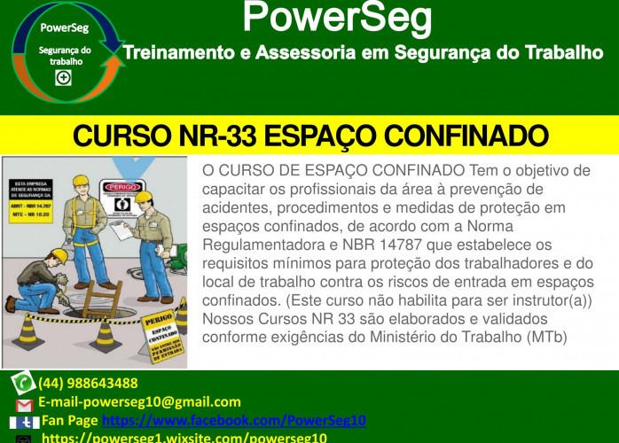 Curso NR-33 espaço confinado maringá PR
