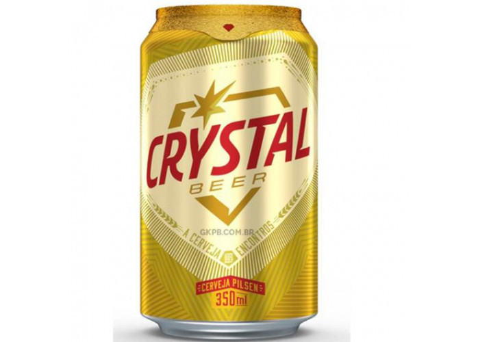 Crystal lata 350 ml R$ 18,50 cx natural
