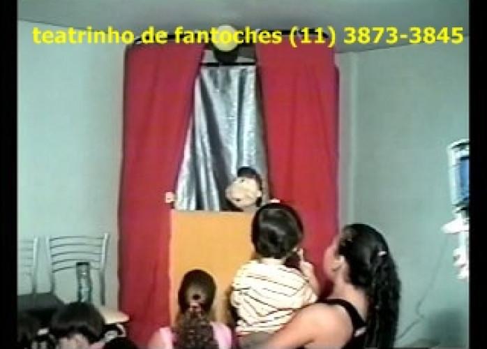 Teatrinho de fantoches para festa , show com palhaço