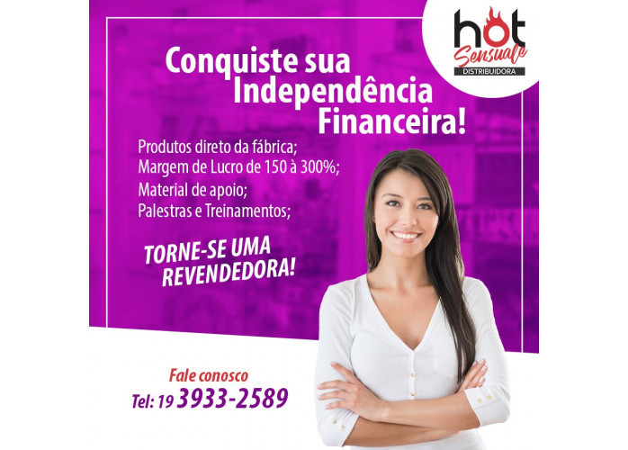 venha trabalhar com os cosmeticos  que irá propor o melhor beneficio do mercado
