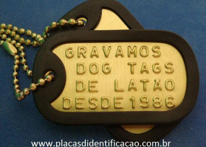Placa dog tag