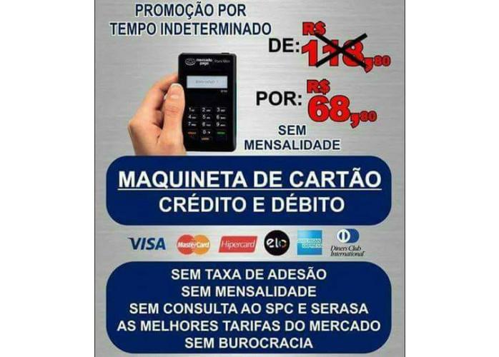 MAQUININHA( LEITOR DE CARTÃO ) DÉBITO E CRÉDITO MERCADO PAGO DE 118.80 POR 68.80/