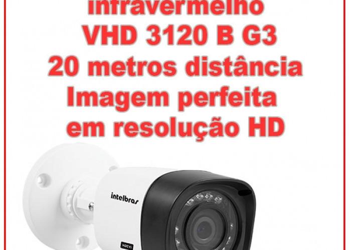 Câmera Multi HD com infravermelho | VHD 3120 B G3 | Intelbras