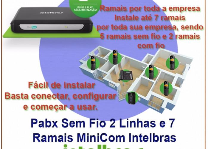 Central PABX Sem Fio 2 Linhas e 7 Ramais MiniCom Intelbras