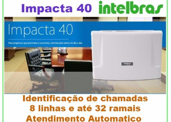 PABX Intelbras Impacta 40 Capacidade até 8 linhas