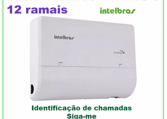 PABX Intelbras Modulare Mais 4 LINHAS 12 RAMAIS