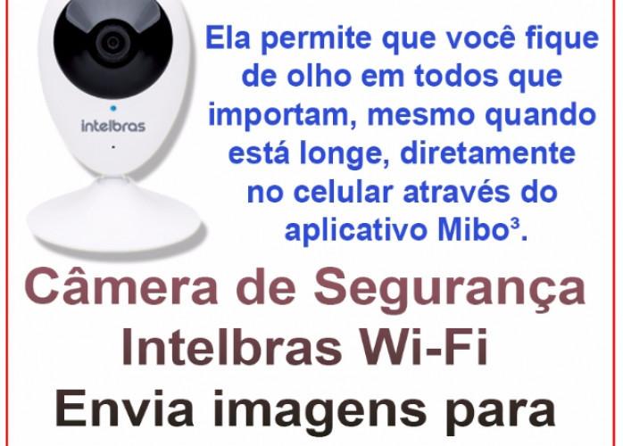 Câmera de Segurança Intelbras Wi-Fi HD iC3 (envia imagens para celular)