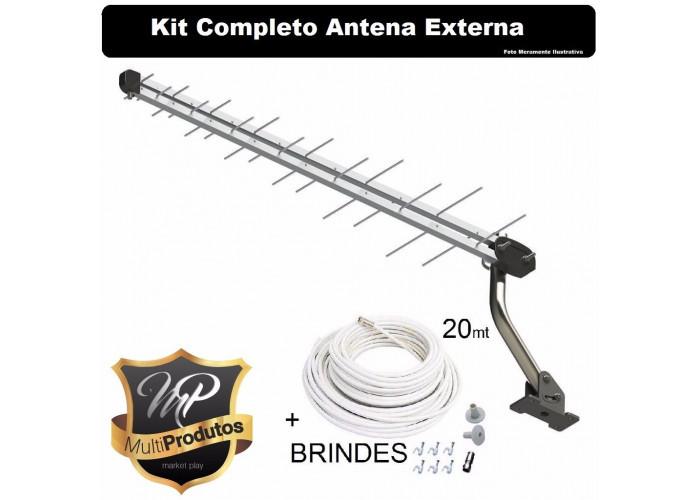 Antena Digital Kit Completo + Cabo 20 Metros Entrego em Toda Londrina, Muito Barato.