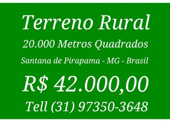 Terreno Rural 20.000 Mts Quadrados, Santana de Pirapemas - M
